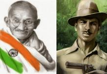 gandhi bhagat singh India independence