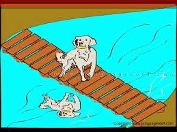 लालची कुत्ता - आधी छोड़ पूरी को धावे आधी मिले न पूरी पावे
