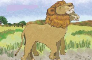 सिंह की खाल में गधा - वस्त्र नहीं स्वभाव को बदलो - पंचतंत्र की कहानियाँ