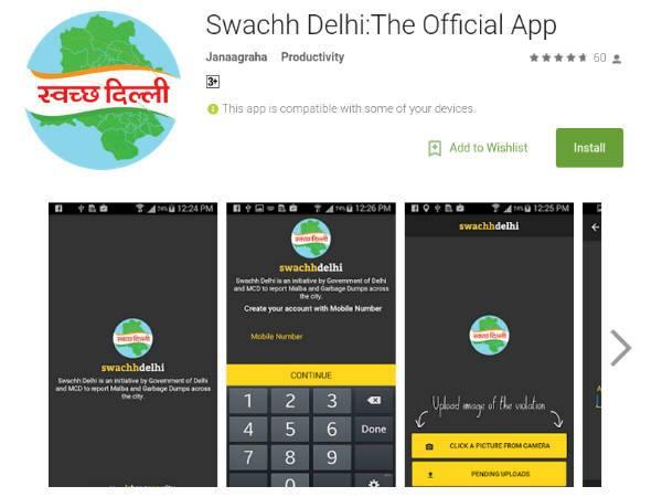 kejriwal swachh Delhi App