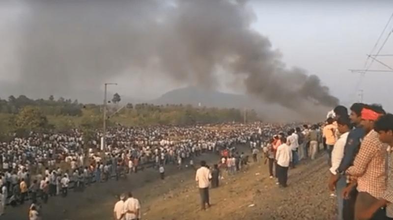 Kapu community demands reservation, sets trains to fire