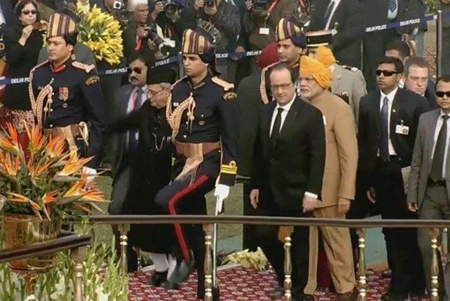 republic day celebrated in Delhi narendra Modi stylish attire