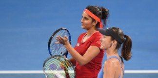sania Mirza and martina Hingis win Australian Open womens double, 36th coonsecutive win