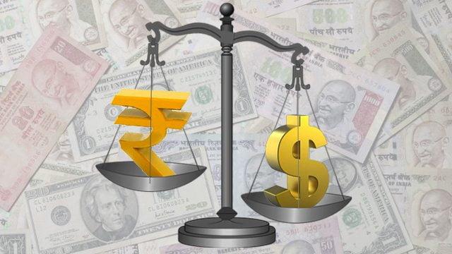 rupee falls to dollar 68.75 level