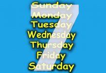 7 days of week in hindi