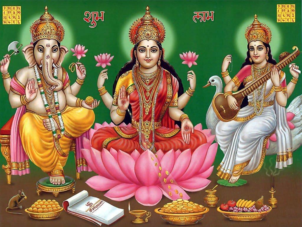 Lakshmi ke sath ganesh aur Sarasvati ki puja kyon hoti hai?
