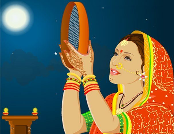 Karwa Chauth Vrat Katha in Hindi