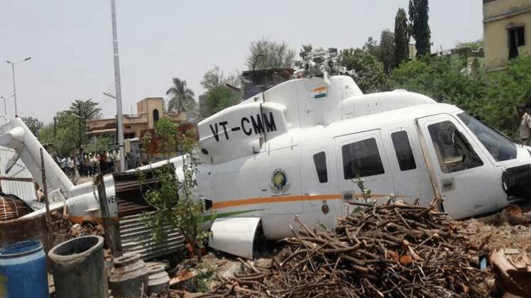 लातूर में देवेंद्र फडणवीस का हेलिकॉप्टर दुर्घटनाग्रस्त