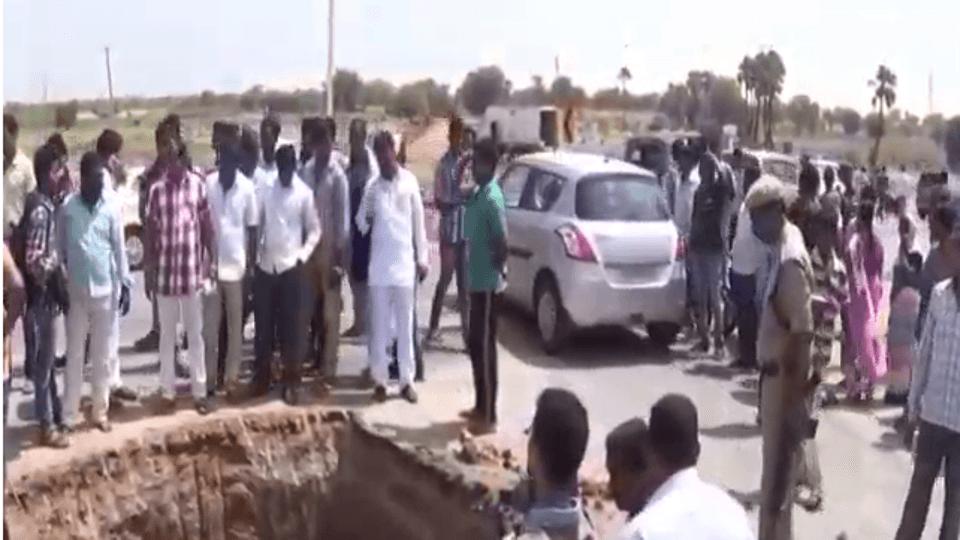 national highway digged