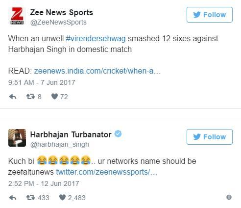 zee news harbhajan singh