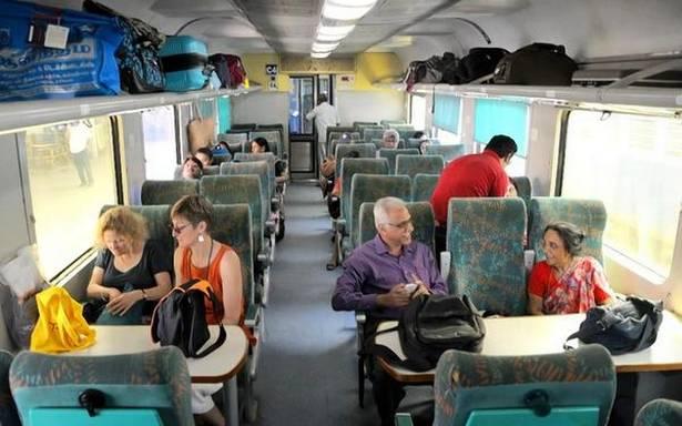 empty train on mumbai ahmadabad route