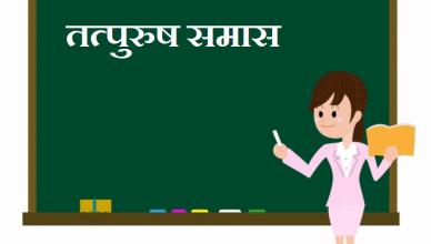 tatpurush samas in Hindi